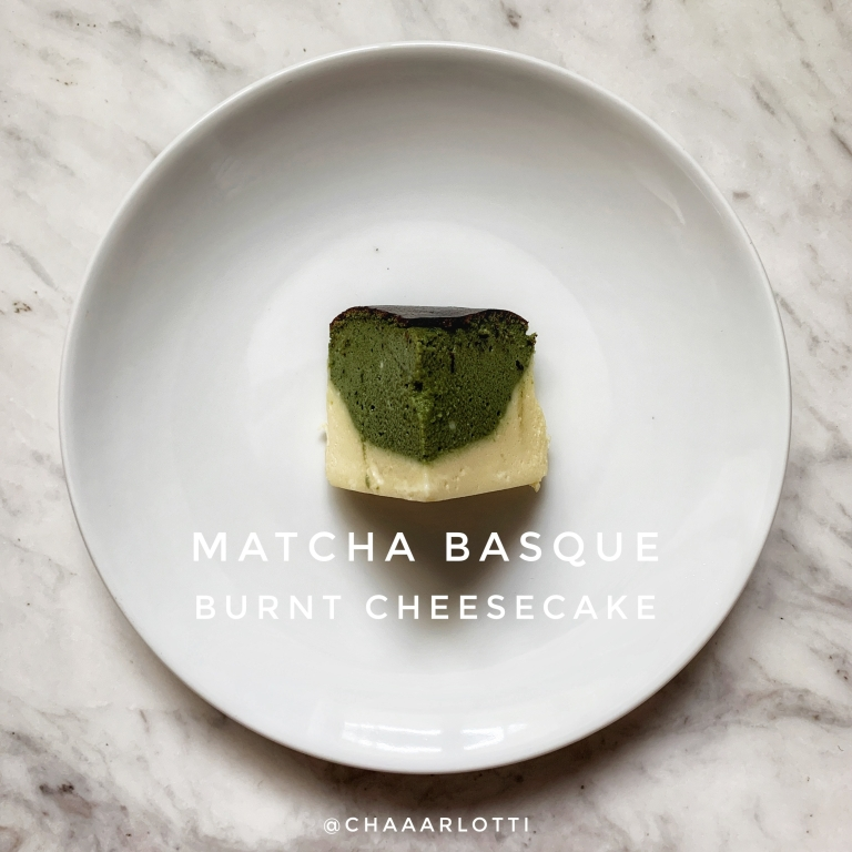 Matcha Basque Burnt Cheesecake Chaaarlotti